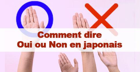 Article Oui et non en japonais
