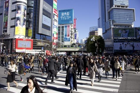 Carrefour piéton de la gare de Shibuya