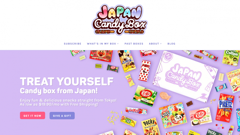 Japan candy box site japonais